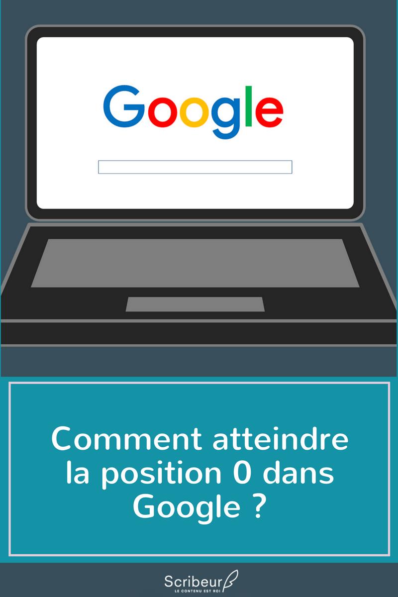 Comment atteindre la position 0 dans google ?