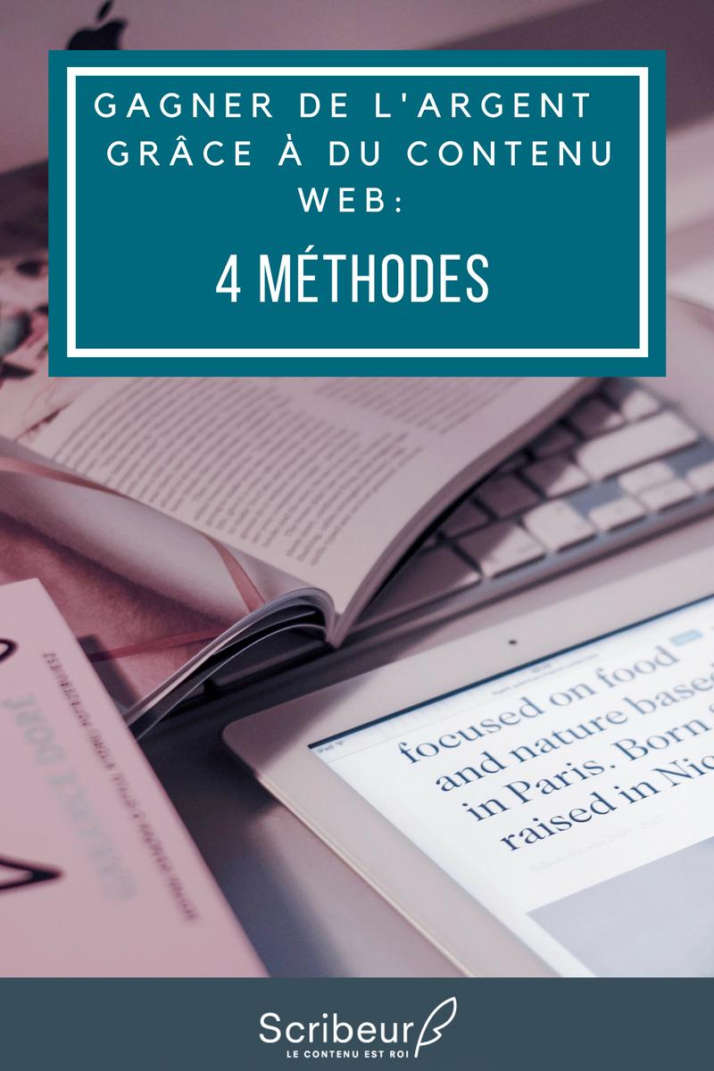 Gagner de l'argent grâce à du contenu web? 4 méthodes